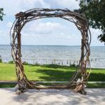 Driftwood Circle Wedding Arch