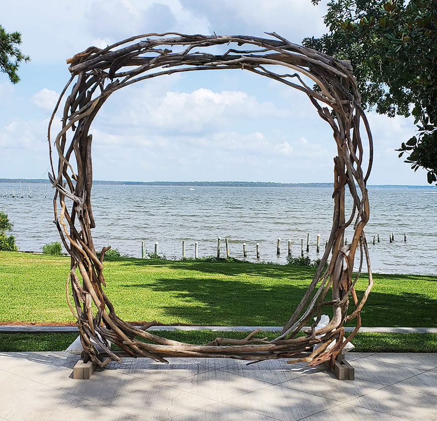 Driftwood Circle Wedding Arch